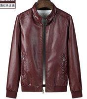 Giacca da uomo in pelle da uomo in stile coreano bello sottile collare in piedi casual primavera e autunno uomini moto jacket giacocche