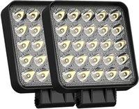2 sztuk 4 cal 75W 7200LM kwadratowy LED Lights Lights Strąki do samochodów ciężarowych Off Drogowych Lampy Lampy Traktory UTV SUV Praca 12 V 24V
