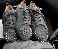 LOUBOUTIN CHRISTIAN Hot Selling Spikes Sneakers Shoes Name Brand Red Bottom Shoes Men,Women Junior Casual Couple Skateboard Shoe EU35-46 Ecq