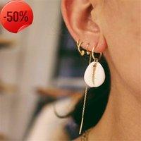 Mode-Shell-Ohrringe Set Beliebte Frauen 4pcs Linie Ohrring Kombination Persönlichkeit Heißer Schmuck Großhandel