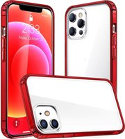 10 Colors Luxury Frame Plating Clear Phone Case For iPhone 12 11 Pro Max Mini X XR XS 7 8 Plus SE 2020 Transparent TPU Silicone Cover