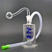 DHL-freie Min-Glas-Becher-Bongs 10mm weibliches Gelenkglas-Öl-Brenner Bong-dicke Pyrex-Glas-Wasserleitungen mit Ölbrenner Piep und Schlauch