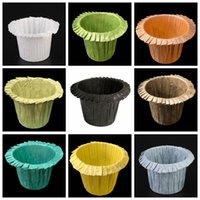 Cups Colorful Forms Cupcake Paper Liner Baking Muffin Box Cup Case Party Tray Cake Mold Decorating Tools VT163