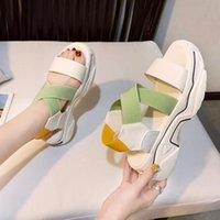 Sandals 2021 Summer Chunky Platform Women Casual Sports Shoes Female Wedges Open Toe Sandalia Beach