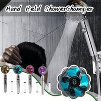 Bath Accessory Set Hand Held Turbocharged Sprinkler Shower Head Water Flow With Fan 360 Degree Rotatable High-Pressure Water-Saving Mode #3