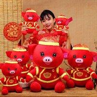 35 cm Capodanno carino benedizione maiale peluche bambola bambola maiale anno mascotte animali animali giocattoli giocattoli migliori regalo di Natale per bambini