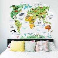 Наклейки на стену Зоиоо Всемирный Животный Карта для детей Номера для детей Гостиная Домашняя Оформления Дома Декорация Наклейка Росписи искусства DIY Офис