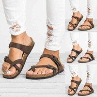 Women Sandals T Strap Cork Summer Shoes Footbed Platform Flat Sandals Female Plus Size Flip Flop Ladies Soft Bottom Slippers l0hb#