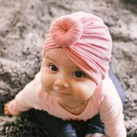 Caps & Hats Baby Accessories Hat Turban Soft Born Toddler Kid Girl Boy Cotton Beanie Winter Cap Knot Infant Headwraps