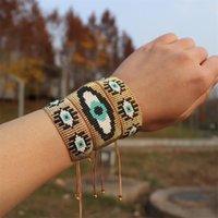 Zhongvi محظوظ الشر سوار أساور 2021 شعبية مجوهرات miyuki للنساء هدية بوهو شرابة العيون التركية الأساور كله