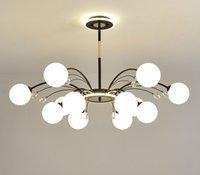 nordic crystal Chandelier E27 lamp holder Glass Postmodern led lighting for Livingroom Bedroom Diningroom AC110-220v