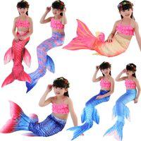 Badeanzug 2021 Mermaid Tail Girls Costume Bikini Kinder