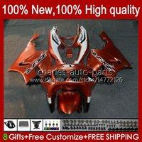 Bodys Kit für Kawasaki Ninja ZX-7R ZX750 ZX 7R 96 97 98 99 00 01 02 03 Karossergebnisse 28hc.32 ZX-750 ZX 7 R ZX 750 ZX7R 1996 1997 1998 1999 2000 2001 2002 2003 Verkleidungen Dunkelorange Neue