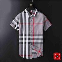 Factory Luxury Brand Polos and Casual Dress shirts 2021 Luxurys Desingers Men's drees Handbag Business Casal Shirt Sleeve Stripe
