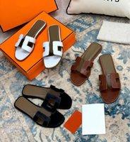 Lüks 2021 Tasarımcı Hakiki Kadın Sandalet Deri Bayanlar Terlik Düz Ayakkabı Oran Sandal Parti Düğün Ayakkabı ile Kutusu Boyutu 35-42 992E