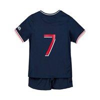 Babay vestiti camicia calcio jersey home 2021 kid kit kit futbol abbigliamento personalizzato nome calcio maglie