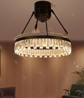 Ventilatore di cristallo post-moderno Light Living Room Living Room Villa Chandelier di lusso