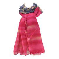 스카프 시폰 스카프 여성 브랜드 플로랄 디자인 패치 워크 인쇄 긴 해변 shawls 가을 겨울 여성 목 스카프 / SF464