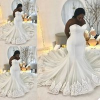 Mermaid Wedding Dresses Sweetheart Neck Luxury Beaded Bridal Gowns Custom Made 2020