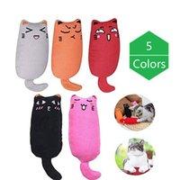 5 Colors Mini Pet Catnip Toys Thumb Bite Cat Mint Scratcher Teeth Grinding Catnip Cat Toy Interactive Tools Pet Supplies
