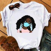 Afro Amerikan Siyah Kız Sihirli kadın Tişörtleri Yaz Üst Kadın T-Shirt Yayını Madde T Gömlek Melanin Kraliçe