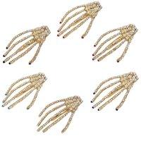 1 pcs crânio mão óssea pêlpin garip ghost esqueleto clipes de cabelo fitclips garra acessórios barrettes