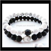 Frisado, Castanhas pulseiras de jóias entrega 2021 pulseira frisada vendendo vulcão dragão rock pinho pedra preto e branco terno casal berga