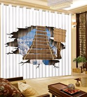 Wooden bridge 3D Curtains Blackout The Living Room Curtain Modern Fashion Drapes For Bedroom