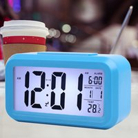 Sensor Smart Sensor Nightlight Digital Reloj de alarma con calendario de termómetro de temperatura, Mesa de escritorio silenciosa Reloj despertador despertador Snooze 406 V2