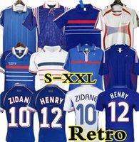 1998 França Retro Vintage Maillot De Foot Soccer Jerseys Uniformes Top Quality 1998 Camisa de Futebol Camisa