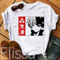 Shoto Todoroki Benim Kahraman Academia Mens T Shirt Erkekler Casual Harajuku Baskı Tees Yaz Gömlek Japonya Anime Giyim