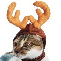 Cat Costumes Christmas Hat Halloween Pet Costume For Dog Puppy Scarf Gift Year Santa Winter Cosplay Supply