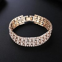 Luxury design row setting Tennis bracelets five rows of diamond combination ladies bracelet, wedding party jewelry gift, exquisite packaging