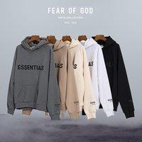 Miedo a Dios Hoody Essentials Sudaderas con capucha 3D Silicon Sudadera con capucha Hombre Hombre Fleece Capucha Pullover Sudadera de gran tamaño Hombres Mujeres Tallas grandes Ropa de peso pesado