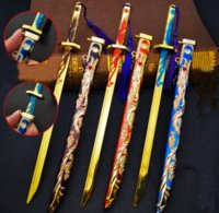 Retro Knife Chain Switchblade High Quality Alloy Weapon Model Holder for Men Car Creative Ancient Sword Key Chain Men Jewelry Accessories Size 30cm