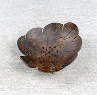 Креативное кокосовое раковину мыло полка бабочка в форме кокосового мыла мультфильм мыло ящик Юго-Восточной азиатской деревянной кокосовой оболочкой