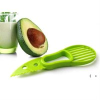 3 In 1 Avocado Slicer Multi-function Fruit Cutter Knife Plastic Peeler Separator Shea Corer Butter Gadgets Kitchen Vegetable Tool OWF6917
