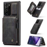 Casemas de billetera de cuero mate mate de la vendimia de Caseme para Samsung Galaxy Note 20 Ultra S20 Fe S20ultra S10 A71 S21