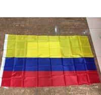 90 * 150CM جمهورية كولومبيا العلم راية 3x5ft كولومبي أمريكا الجنوبية البوليستر مراوح الهتاف أعلام حزب ديكورات DFF3163
