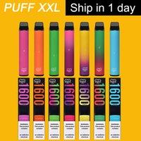 Puff XXL одноразовые вершины электронные сигареты 1600 Puffs Vape устройство 1000 мАч 6,5 мл POD 43+ Цвета доступные E CIGS