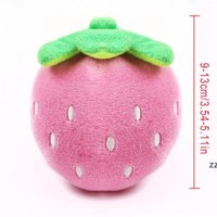 Cartoon Dog Toys Stuffed Squeaking Pet Toy Cute Plush Puzzle For Dogs Cat Chew Squeaker Squeaky Pet Strawberry Toy HWE8633