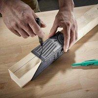 مجموعة أدوات اليد المهنية وصول النجارة النجارة حاكم 3D ميتري زاوية قياس مربع قياس 45 درجة و 90 مع قلم رصاص نجار