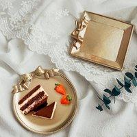 Kreative Harz Dessert Platte Gold Macarons Farbe Bogen Kuchen Aufbewahrungstabläufe Schmuck Display Tablett Gericht Organizer Dekor Geschirrteller