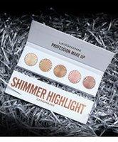 Langmanni 5 colori Highlighter Makeup Face Contour Polvere Bronzer Make Up Blusher Professionale Blush Palette Cosmetici 50 set / lotto DHL