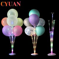 1 2set Led Light Balloon Stand Column Wedding Decoration Birthday Party Kids Adult Event Ballons Accessories