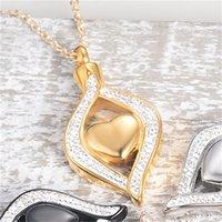 Cristal Lágrima Heart Hearmation Urn Colgante Collar conmemorativo para mujeres de acero inoxidable Ashes Holder Soporte Joyas de recuerdo1 723 Q2