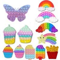 Butterfly Color Change Pop it Poppit Adult Kid Push Bubble Fidget Toys Sensory Autism Special Needs Stress Reliever