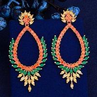 Lova Chandelier Kellybola Boucle d'Oreille Femme Bohemia Orecchini in cristallo per le donne Prong Setting cubic zirconia gioielli di alto livello