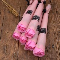 Carnation Roses Savon Fleurs Creative Romantique De Mariage Favors Rose Savons Flower pour Valentines Cadeaux Cadeaux Mères Day Cadeaux Festives Fournitures Fête