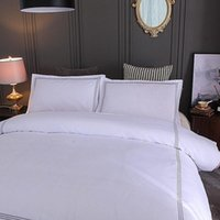 Bedding Sets El Set Queen King Size White Color Embroidered Duvet Cover Bed Linen Pillowcase